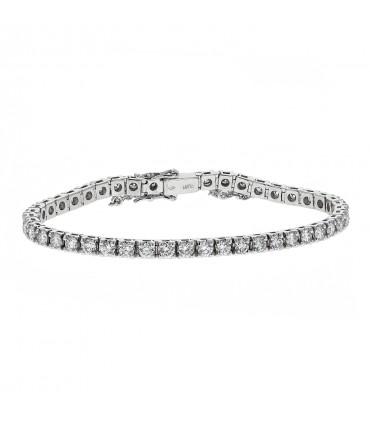 Diamonds and platinum bracelet