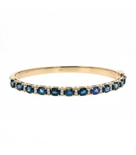 Diamonds, sapphires and gold bracelet