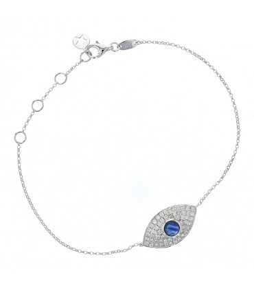 Diamonds, sapphire and gold bracelet