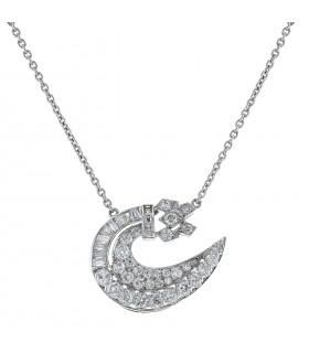 Diamonds, gold and platinum necklace