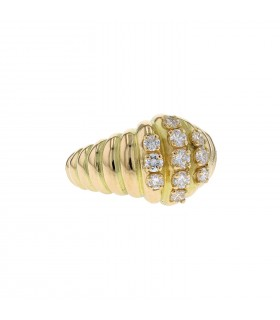 Chaumet diamonds and gold ring