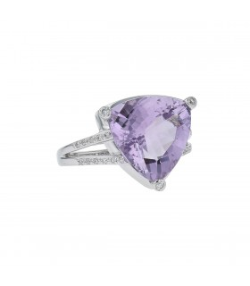 Mauboussin Mes Couleurs à Toi diamonds, amethyst and gold ring