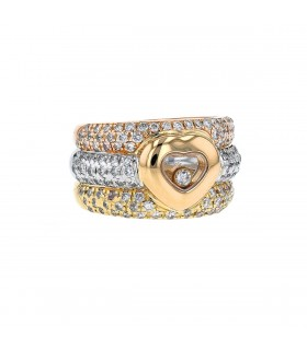 Chopard Happy Diamonds and gold ring