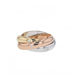 Cartier Trinity diamonds and gold ring