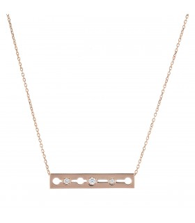 Dinh Van Pulse diamonds and gold necklace