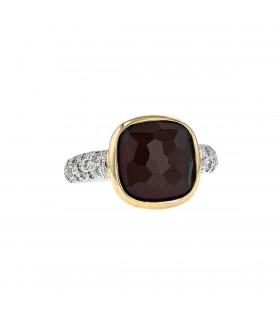 Pomellato Sherazade diamonds, garnet and gold ring