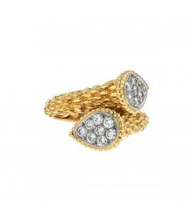 Boucheron Serpent Bohème diamonds and gold ring