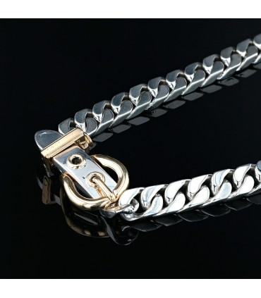 Hermès Ceinture silver and gold necklace