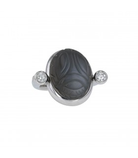 Colleen B. Rosenblat diamonds, moon stone and gold ring