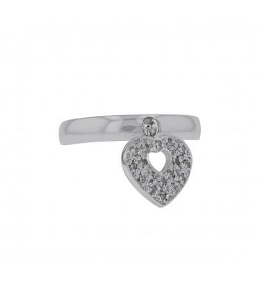 Poiray Coeur Secret diamonds and gold ring