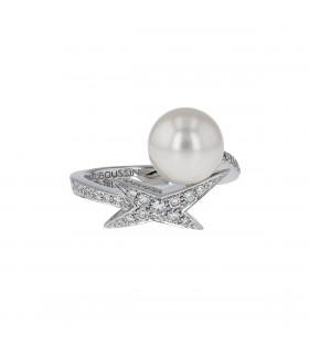 Mauboussin Perle de Ma Vie diamonds, pearl and gold ring