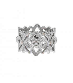 Buccellati Eternelle Opera diamonds and gold ring