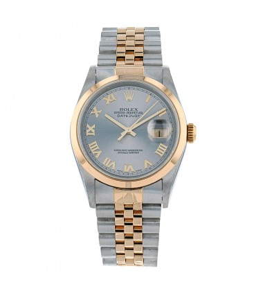 Rolex DateJust stainless steel and gold watch Circa 2001