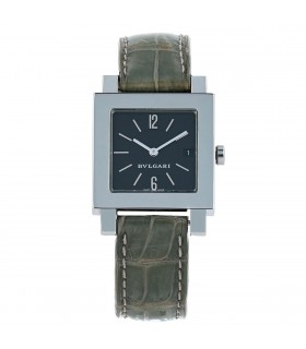 Bulgari Quadrato stainless steel watch
