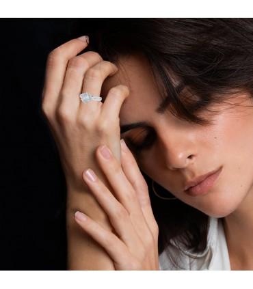 Platinum and diamond ring - Diamond 4,10 cts