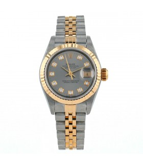 Rolex DateJust stainless steel and gold watch Circa 1992