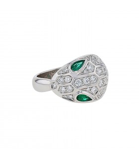 Bulgari Serpenti emeralds, diamonds and gold ring