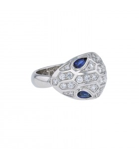 Bulgari Serpenti sapphires, diamonds and gold ring