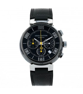 Louis Vuitton Tambour Chronographe ceramic and stainless steel watch