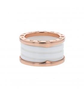 Bulgari Bzero 1 ceramic and gold ring