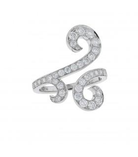 Van Cleef & Arpels Oiseaux de Paradis Volutes diamonds and gold ring