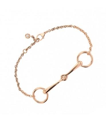 Hermès Filet d'Or diamond and gold bracelet