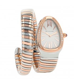 Bulgari Serpenti gold and stainless steel watch