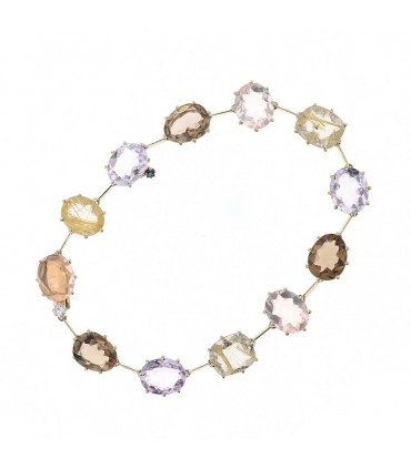 H. Stern quartz and gold bracelet