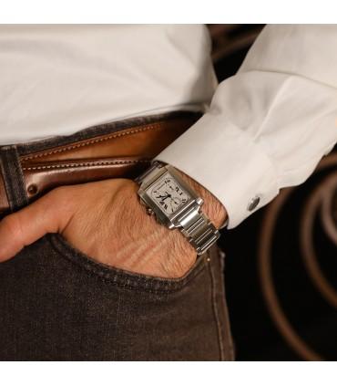 Cartier Tank Française Chronoreflex watch