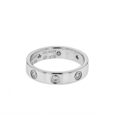 Cartier Love diamonds and gold ring