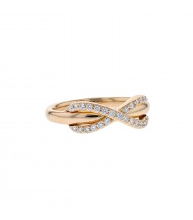 Tiffany & Co. Infinity diamonds and gold ring