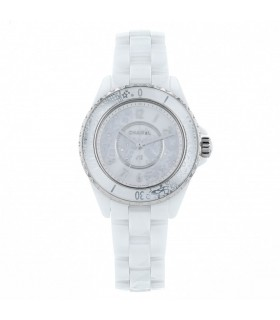 Chanel J12 diamonds, stainless steel and ceramic watch