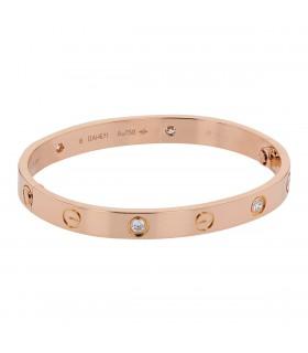Bracelet Cartier Love 4 Diamants Taille 16