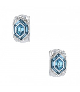 Avakian diamonds, topaze and gold earrings