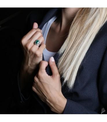 Diamonds and emerald ring