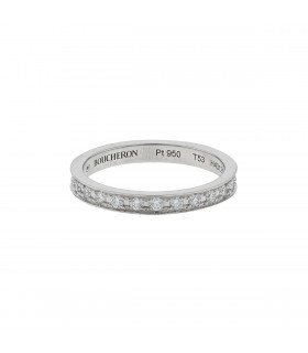 Boucheron Eternity Quatre Radiant diamonds and platinum ring