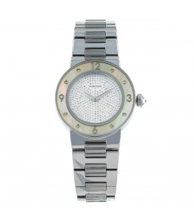 Mauboussin Amour Le Jour Se Lève stainless steel and diamonds watch