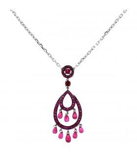 Boucheron Cinna Pampilles rubies and gold necklace
