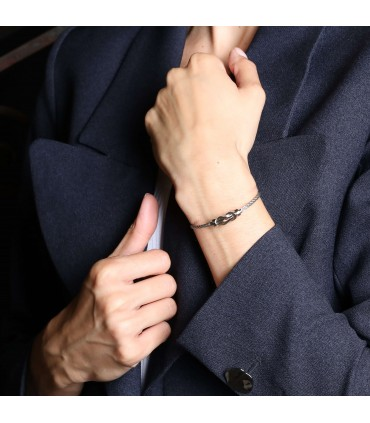 Fred Chance Infinie stainless steel and gold bracelet
