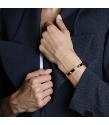 Cartier Love diamonds and gold bracelet Size 16