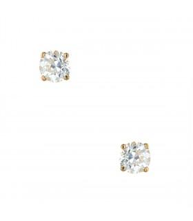 Boucles d'oreilles or et diamants - Diamants 1,41 ct et 1,50 ct