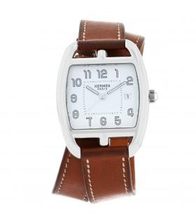 Hermès Cape Cod Tonneau stainless steel watch