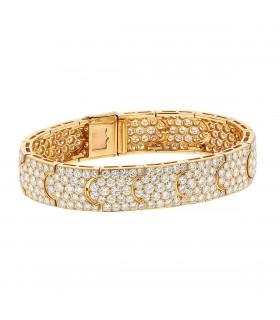 Cartier Arcadie Lanière diamonds and gold bracelet