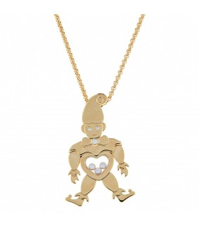 Chopard Happy Clown Diamonds and gold necklace