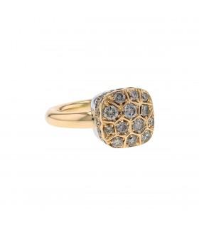 Pomellato Nudo brown diamonds and gold ring