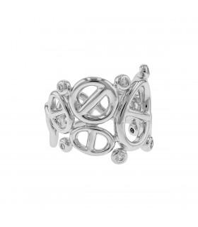 Hermès Chaîne d'Ancre diamonds and gold ring