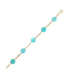 Amazonite and gold bracelet