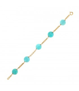 Bracelet or et amazonites