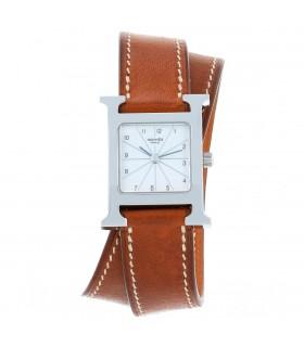 Hermès Heure H stainless steel watch