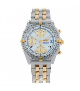 Breitling Chronomat stainless steel and gold watch